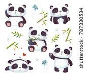 vector cartoon style 3d effect... | Shutterstock .eps vector #787330534