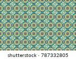 raster colorful symmetrical... | Shutterstock . vector #787332805