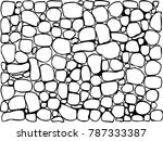 large and small stone textures... | Shutterstock .eps vector #787333387