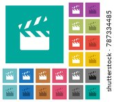 clapperboard multi colored flat ...   Shutterstock .eps vector #787334485