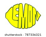 vector word lemon in the shape... | Shutterstock .eps vector #787336321