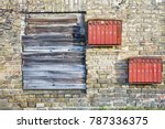 Rusty Mailboxes On The Brick...