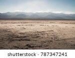 view of a salt desert from...   Shutterstock . vector #787347241