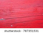 old wooden painted red texture   Shutterstock . vector #787351531
