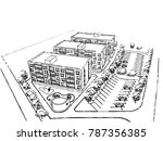 architecture building vector | Shutterstock .eps vector #787356385