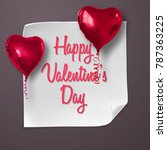 valentines day greeting card... | Shutterstock .eps vector #787363225