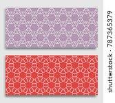 seamless horizontal borders... | Shutterstock .eps vector #787365379