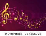 music notes and guitar | Shutterstock .eps vector #787366729