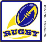 Vector Illustration Of A Rugby...
