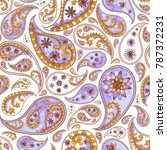 paisley abstract floral... | Shutterstock . vector #787372231