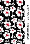 seamless floral pattern in... | Shutterstock .eps vector #787372375