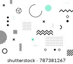 abstract bauhaus background.... | Shutterstock .eps vector #787381267