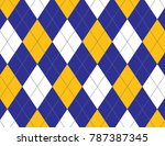 blue and yellow argyle... | Shutterstock .eps vector #787387345