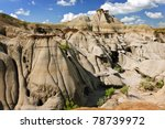 View Of The Badlands And...