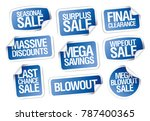 sale stickers set   massive... | Shutterstock .eps vector #787400365