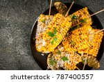 summer food. ideas for barbecue ... | Shutterstock . vector #787400557