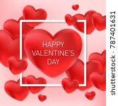 valentines day vector... | Shutterstock .eps vector #787401631