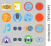 icon set about hippies. with... | Shutterstock .eps vector #787411891