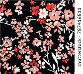 floral pattern in vector   Shutterstock .eps vector #787416811