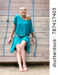 young woman cured from cancer... | Shutterstock . vector #787417405