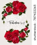 valentine's day greeting card... | Shutterstock .eps vector #787422265