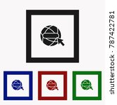 the globe icon. globe symbol.... | Shutterstock .eps vector #787422781