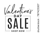 valentine's day special offer... | Shutterstock .eps vector #787425307