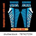 leggings pants fashion... | Shutterstock .eps vector #787427254
