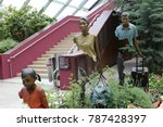 statues of la famille de... | Shutterstock . vector #787428397