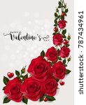 valentine's day greeting card... | Shutterstock .eps vector #787434961