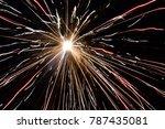 fireworks exploding in sky | Shutterstock . vector #787435081