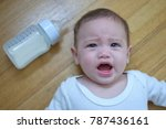 soft focused four months old... | Shutterstock . vector #787436161