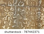 Small photo of Salt and alkali texture on the wall of cement