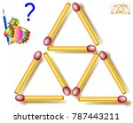move two matchsticks to make... | Shutterstock .eps vector #787443211