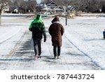 couple walking during winter   Shutterstock . vector #787443724