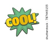 comic boom cool icon. flat... | Shutterstock .eps vector #787445155