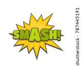 comic boom smash icon. flat...