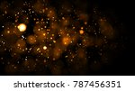 gold abstract bokeh background. ... | Shutterstock . vector #787456351