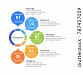 circle nfographic template five ... | Shutterstock .eps vector #787457059