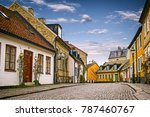 A Street With Old Buildings In...