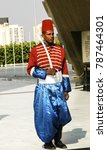Small photo of CAIRO, EGYPT-JAN 17, 2009: An honor guard stands outside the Sadat and Unknown Soldier Memorial.
