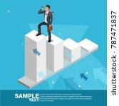 future business leader concept... | Shutterstock .eps vector #787471837