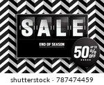sale banner. black color on... | Shutterstock .eps vector #787474459