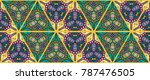 colorful seamless triangle... | Shutterstock .eps vector #787476505
