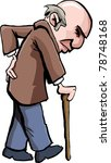 cartoon of old man with a... | Shutterstock .eps vector #78748168