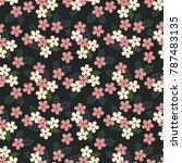 seamless raster ornamental... | Shutterstock . vector #787483135