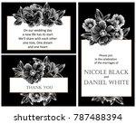 romantic invitation. wedding ... | Shutterstock . vector #787488394