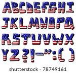 american flag font   Shutterstock .eps vector #78749161