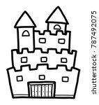 castle   cartoon vector and... | Shutterstock .eps vector #787492075