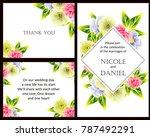 romantic invitation. wedding ... | Shutterstock . vector #787492291